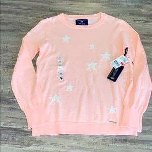 🆕 Polo Pink and White Star Sweater XS